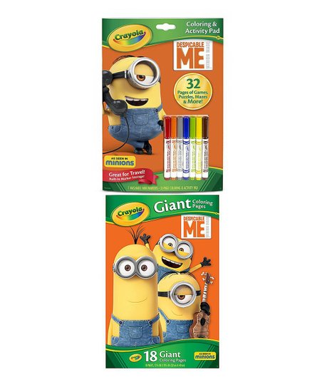 Crayola Giant Color Pages - Minions: Amazon.ca: Toys & Games | 543x452