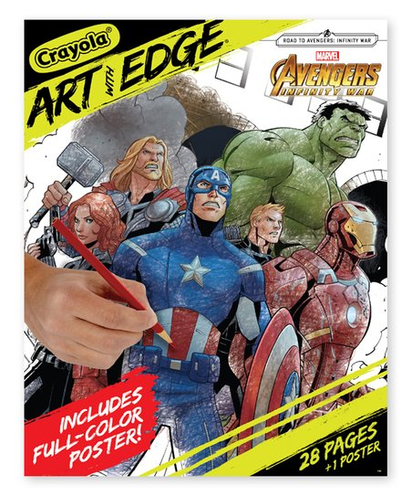 Crayola Marvel Avengers Infinity War Art With Edge Coloring Book ...