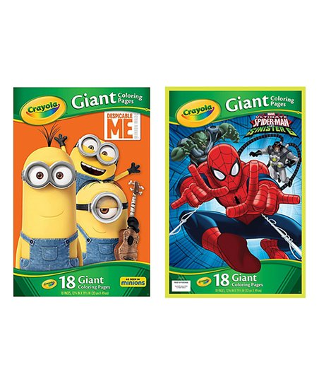 Crayola Spider Man Despicable Me Giant Coloring Pages Set Zulily
