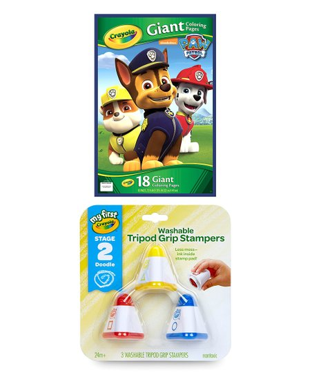 Paw Patrol Giant Pages Coloring Book My First Crayola 3 Ct