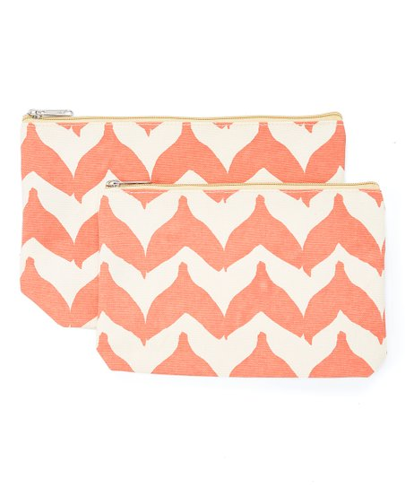 Rockflowerpaper Pink Whale Tail Two Piece Cosmetic Bag Set