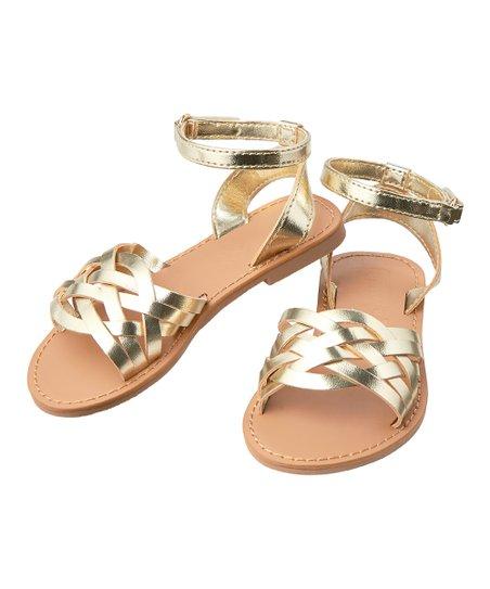 753e8686b8c20f love this product Metallic Gold Sandal - Girls