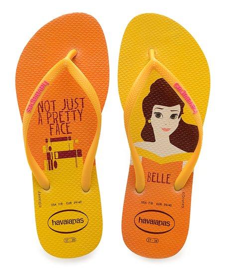 782f3ae570b5 Havaianas Beauty   the Beast Yellow Belle Slim Flip-Flop - Women ...
