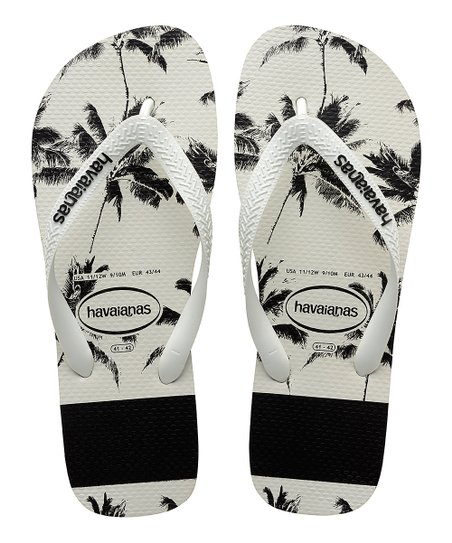 080f05594c027f love this product Black   White Top Stripes Logo Flip-Flop - Kids