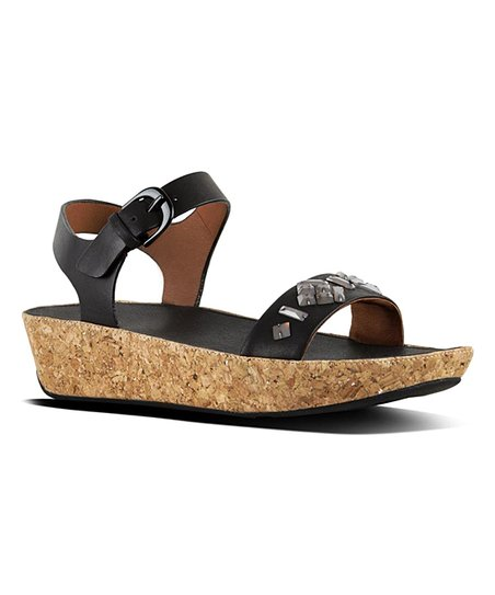 e699726ddbed3 FitFlop Black Bon II Leather Sandal - Women