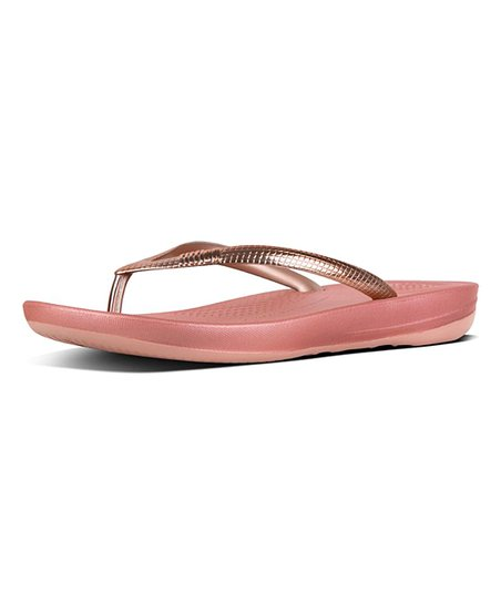 50405e5b2a0441 love this product Rose Gold Mirror iQUSHION™ Ergonomic Flip-Flop - Women