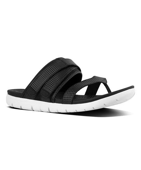 10a65a0d23f39 FitFlop Black Mix Neoflex Toe-Thong Sandal - Women