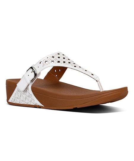 8412f0ab3 love this product Urban White Latticed Skinny Leather Sandal - Women