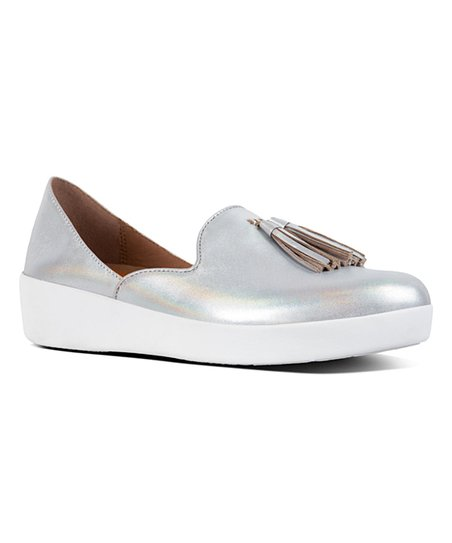 c2df8912052 love this product Silver Iridescent Tassel Superskate Leather D Orsay Loafer  - Women