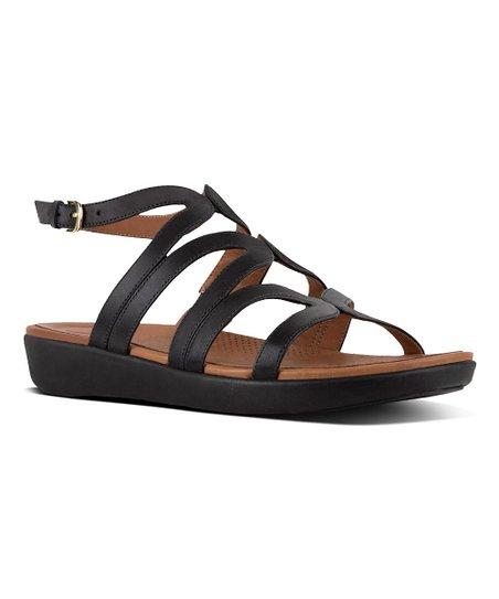 3ea2cb71d86 FitFlop Black Strata Leather Sandal - Women