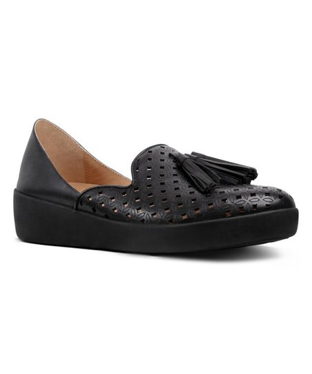 9d44a5cda7d FitFlop Black DOrsay Superskate Leather Loafer - Women