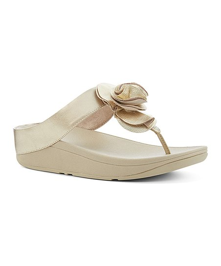 b4f3fda5b70e love this product Pale Gold Florrie Leather Sandal - Women