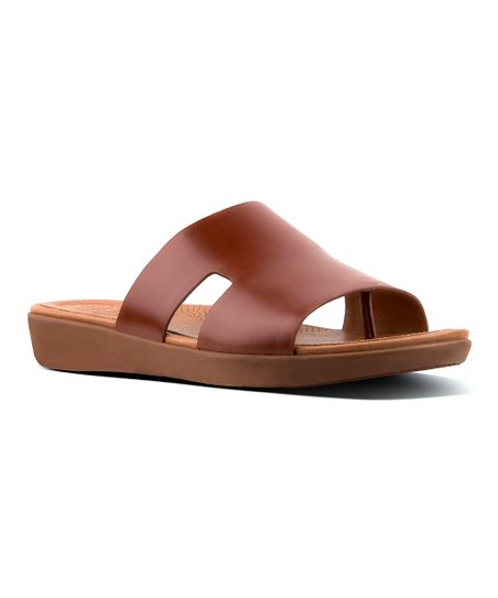 a1b90af32 FitFlop Cognac H-Bar Leather Slide - Women