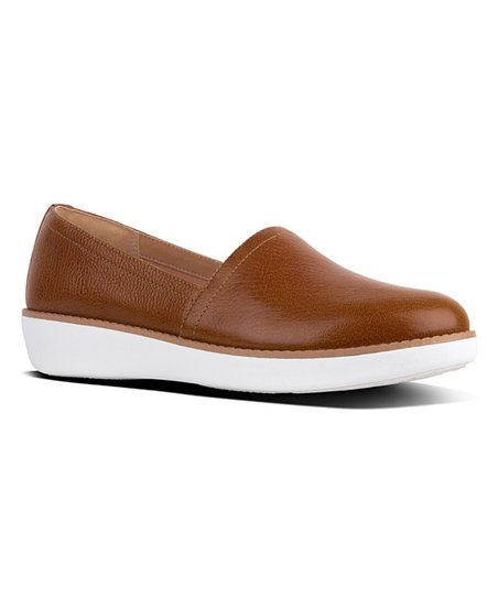 f1ec8f7e125 love this product Tumbled Tan Casa Leather Loafer - Women