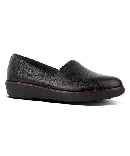 eb81e95fa3d FitFlop Black Casa Leather Loafer - Women