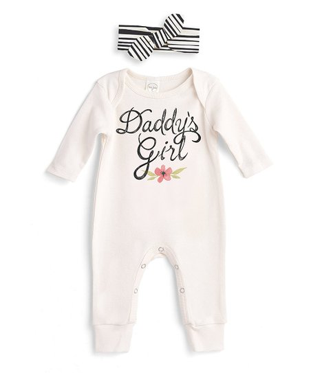 9eb7a6f5f4a love this product Ivory  Daddy s Girl  Playsuit   Stripe Headband - Newborn    Infant