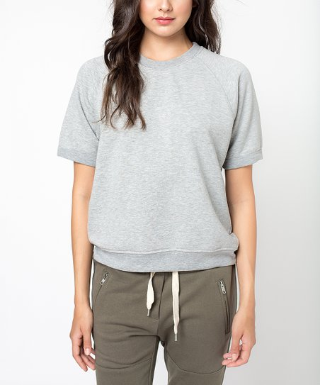 e36118f340376 Sincerely Jules Gray Cara Sweatshirt - Women | Zulily