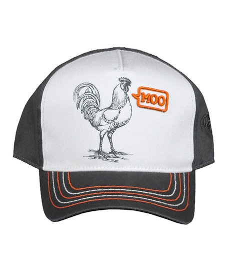 439ada89dc7f love this product Oxford & Orange 'Moo' Rooster Baseball Cap - Infant