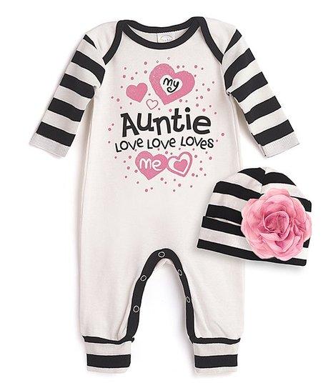 30609dd0b8dd Tesa Babe Ivory   Black Stripe Auntie Loves Me Playsuit   Beanie ...