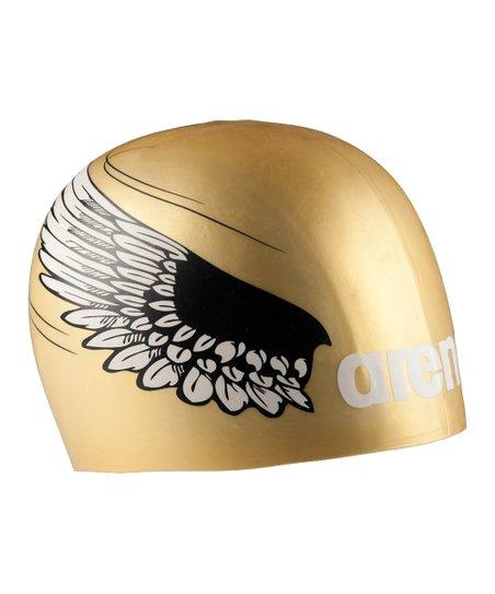 b821c7311f0 Arena Gold Wings Swim Cap   Zulily