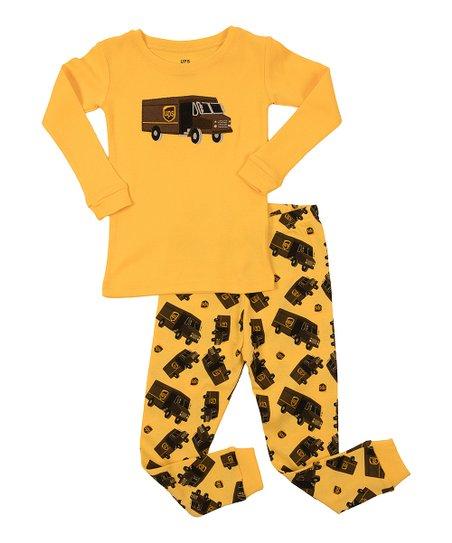 fd6f21ffaec1 Leveret Yellow UPS Pajama Set - Toddler   Kids