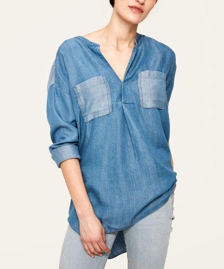 b53c89d07 love this product Medium Blue Denim Wash Oliane Tunic