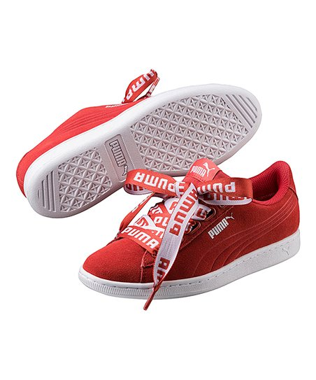 love this product Spiced Coral Vikky Ribbon Bold Suede Sneaker - Women cd5b40289