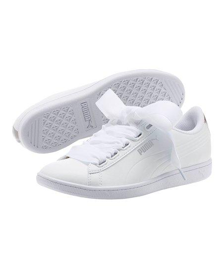 love this product White   Metallic Beige Vikky Ribbon Sneaker - Women ee7469e06