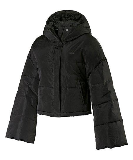 PUMA Black Cropped Puffer Jacket Women