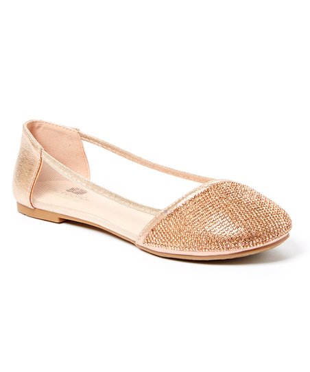 77534ce3bcd love this product Rose Pink Glitter Mesh-Side Kitten Heel - Girls