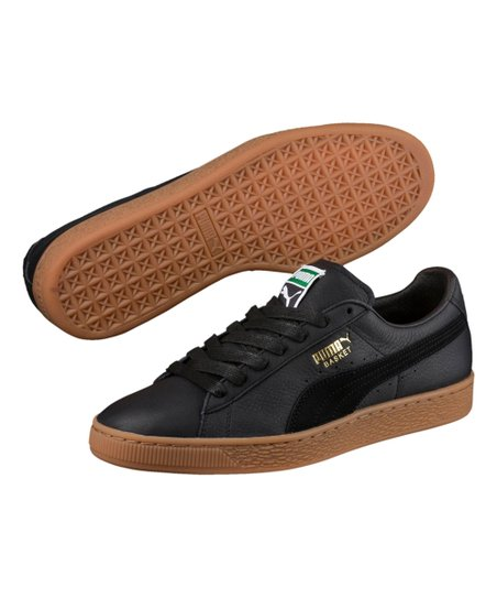 premium selection c1ead e2aa7 Black Basket Classic Gum Deluxe Leather Sneaker - Men