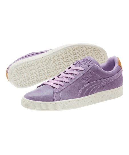 7fe748a43289 love this product Purple Rose & Golden Brown Deco Suede Sneaker - Men