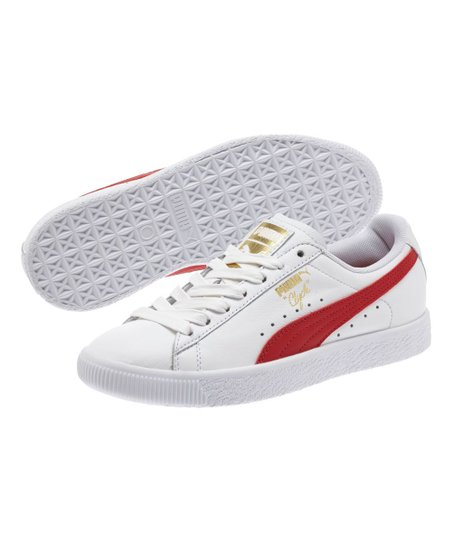 30caefa781aa love this product White   Barbados Cherry Clyde Core L Foil Leather Sneaker  - Kids