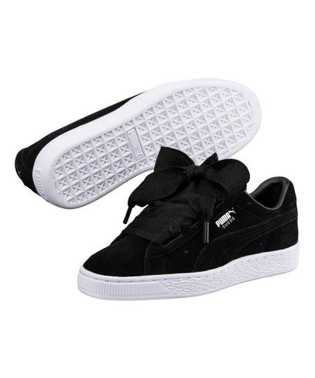 hot sale online 4c3ab d5ac1 PUMA Black Heart Valentine Suede Sneaker - Girls