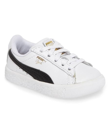 032f703b838 love this product White   Black Clyde Core L Foil Leather Sneaker - Kids