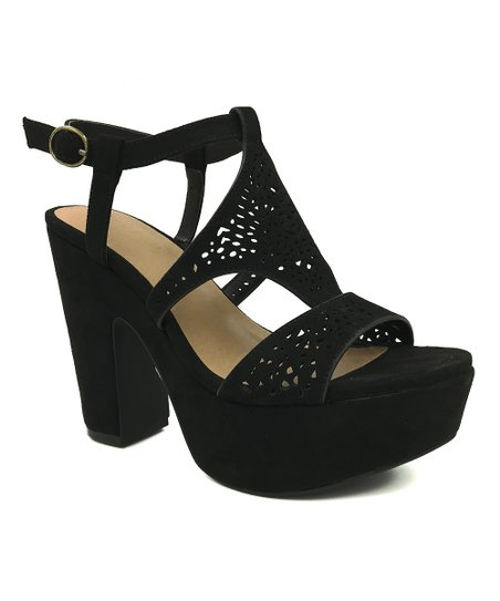 ede95e2aacfd Bamboo Black Sandbar Platform Sandal - Women