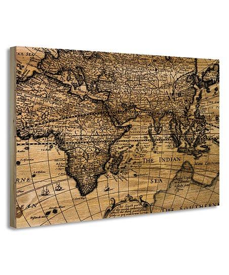 ZA Concept Old-World Map Digital Print Wood Wall Art | Zulily