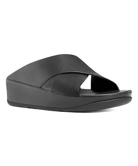 73c53d06447e16 FitFlop All Black Kys Leather Sandal - Women