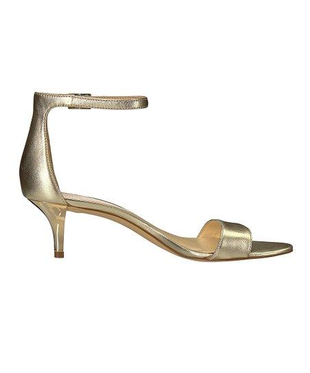 f34407299f60 Nine West Light Gold Metallic Leisa Leather Sandal - Women