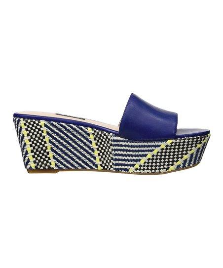 cef208a38e0 Nine West Blue Falardo Leather Platform Sandal - Women