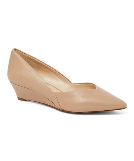 7363893547 Nine West Nude Eliora Leather Wedge - Women | Zulily