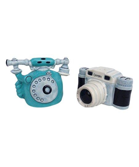 Love This Product Telephone Camera Salt Pepper Shaker Set