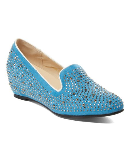 5abecddab6f41d Aotoria Blue Rhinestone-Embellished Wedge - Women
