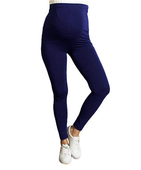 31260195ad9be Luvmabelly Navy Class Fit Maternity Leggings - Plus Too | Zulily