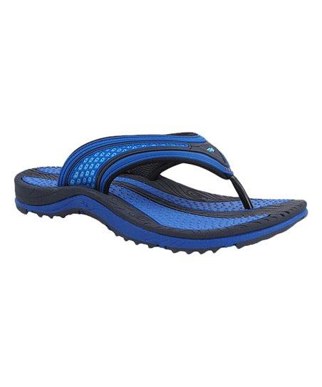 82cba906b7c3d love this product Blue   Black Color Block Flip-Flop - Men