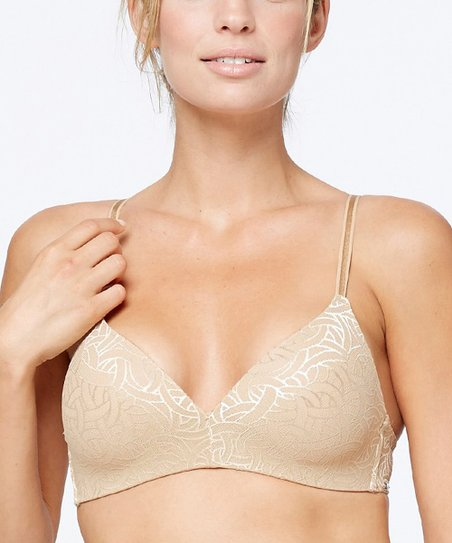 9836a9ad78a Montelle Intimates Nude Abstract Wireless Microfiber T-Shirt Bra ...