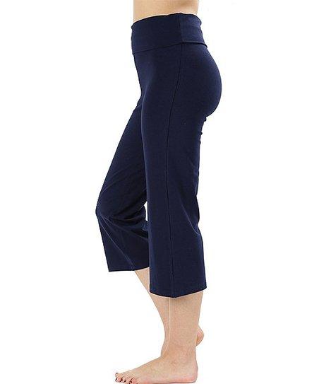 affeacff939a3e Active USA Navy Yoga Capri Pants - Women & Plus | Zulily