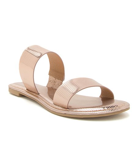e7d9c0acbabf13 love this product Rose Gold Two-Strap Athena Sandal - Women