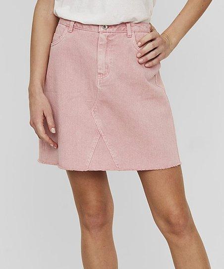 love this product Pink Denim Skirt - Women 9d7b2e6bf