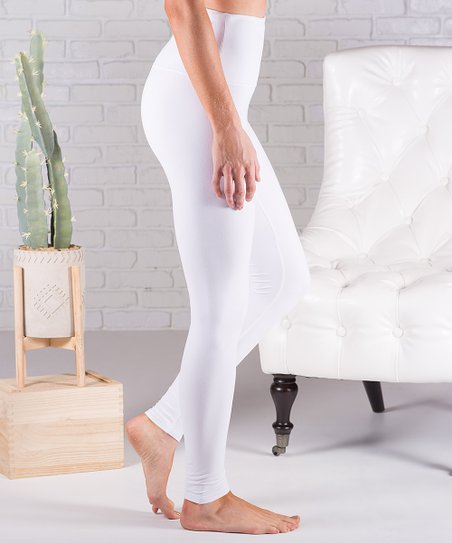 eafc8b5a2859c love this product White Ultrasoft Tummy Control High-Waist Leggings - Women